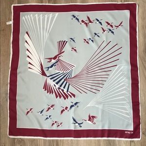 Vintage Canadian pacific Air stewardess scarf